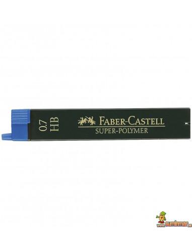 Minas Faber Castell 0.7mm 12ud HB