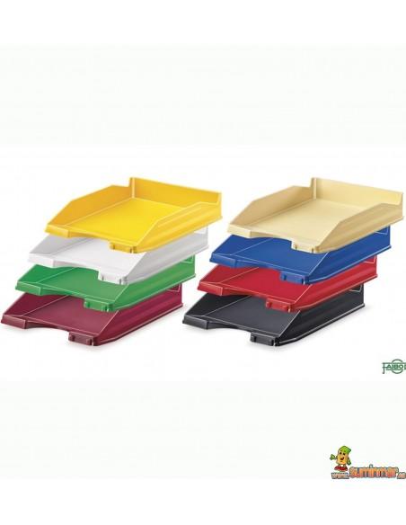 Bandeja de plástico Faibo apilable. Varios colores