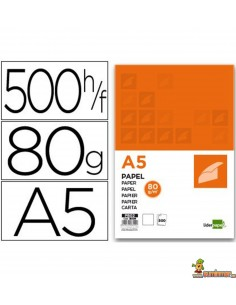 Papel DIN A5 80g 500 hojas