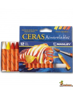 Ceras Manley Acuarelables 12 ud
