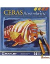 Ceras Manley Acuarelables 24 ud