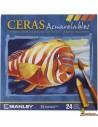 Ceras Manley Acuarelables 24 ud