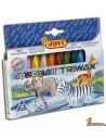 Ceras triangulares para niños JoviColor Triwax 12 colores
