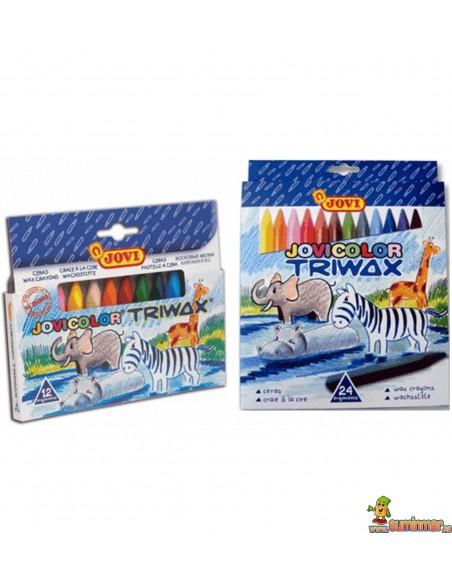 Ceras triangulares para niños JoviColor Triwax