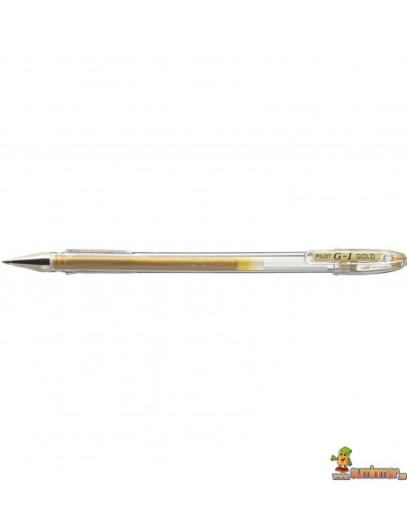 Bolígrafo Pilot G1 0.7mm Oro y Plata