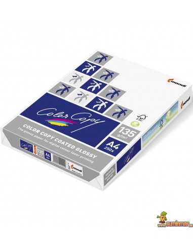 Papel DIN A4 135g Glossy 250 hojas Color Copy