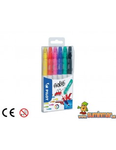 Pilot Frixion Colors Rotuladores borrables 6 uds