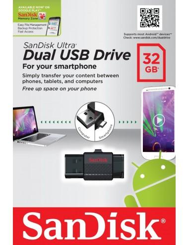 Pendrive Sandisk Ultra Dual USB/MicroUSB USB 2.0 SDDD