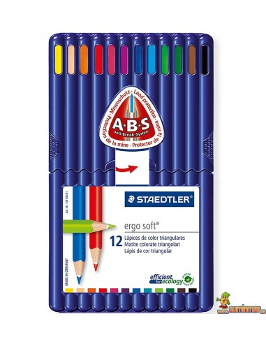 Staedtler Ergosoft Lápices de colores 12 uds