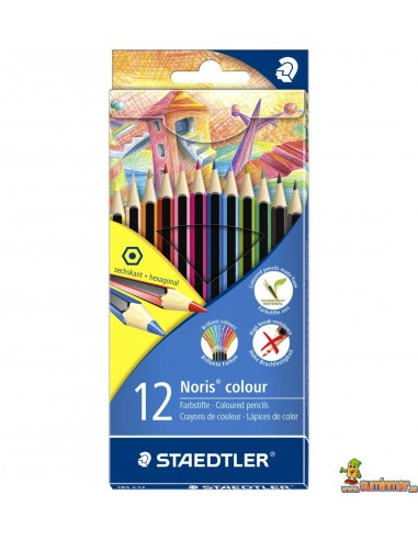 Staedtler Noris Colour Lápices de Colores WOPEX 12 ud