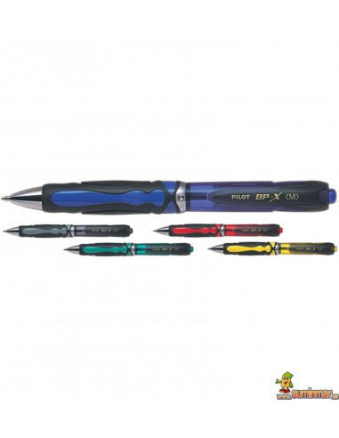 Pilot BP-X grip Bolígrafo retráctil con tinta base aceite en color azul