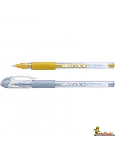 Bolígrafo Artline 1900 Softline color oro y plata