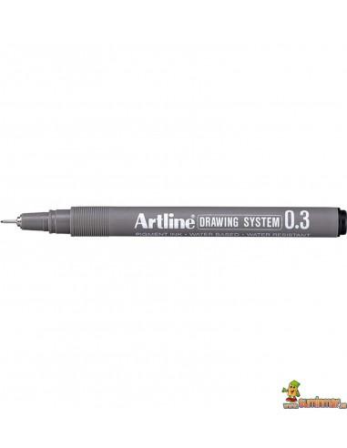 Rotulador calibrado Artline micrométrico