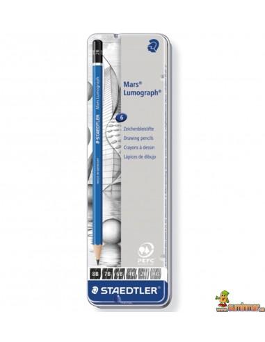 Staedtler Lumograph 100 Set de lápices de grafito para dibujo profesional 6 uds
