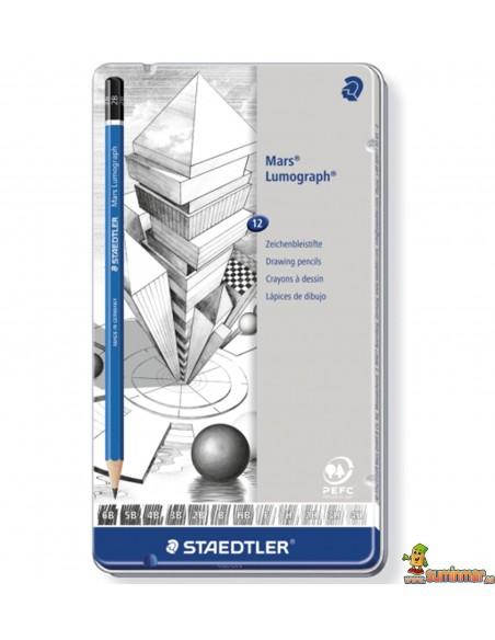 Staedtler Lumograph 100 Set de lápices de grafito para dibujo profesional