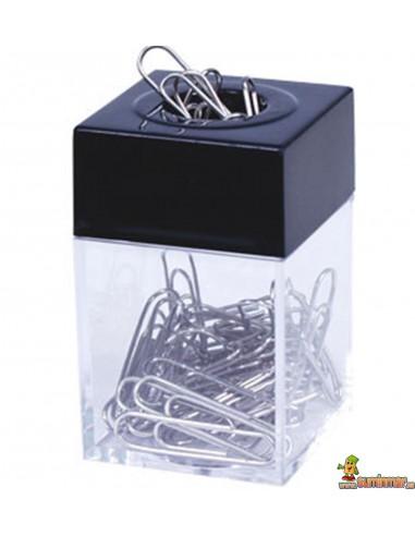 Portaclips Q-connect imantado cuadrado