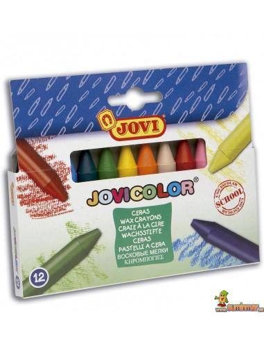 Ceras JoviColor 12 colores surtidos 12 ud