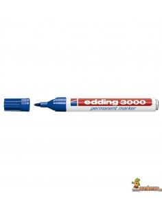 Edding 3000 azul 003. Marcador Permanente