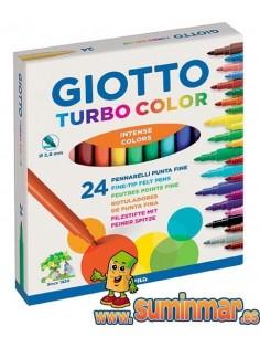 Giotto Turbo Color Rotulador para niños 24 ud