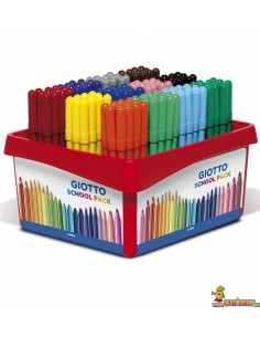 Giotto Turbo Color Schoolpack 144 ud