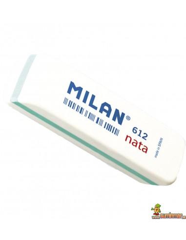 """Goma de borrar Milan """"Nata"""" 612"""