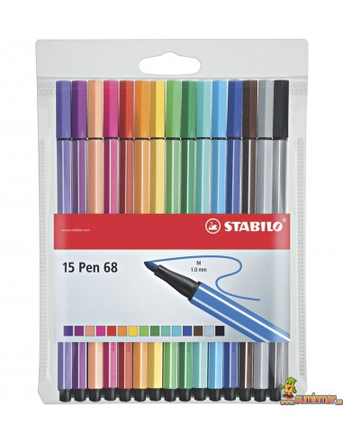 Stabilo Pen 68 Color Parade Estuche 15 colores