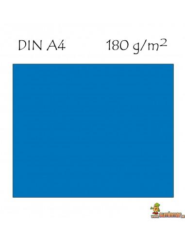 Cartulina A4 180g azul