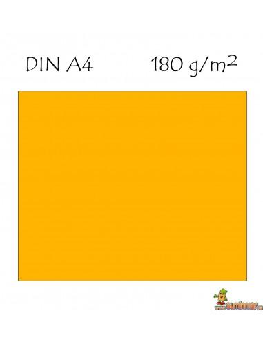 Cartulina A4 180g naranja