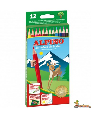 Lápices de colores Alpino. 12 colores