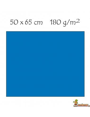 Cartulina 50x65 cm 180g Azul turquesa