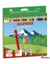 Lápices de colores Alpino. 24 colores