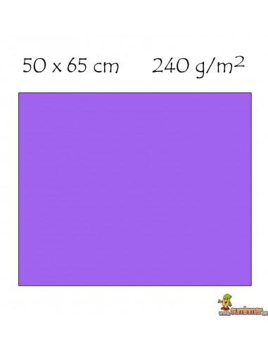 Cartulina 50x65 cm 240g Violeta
