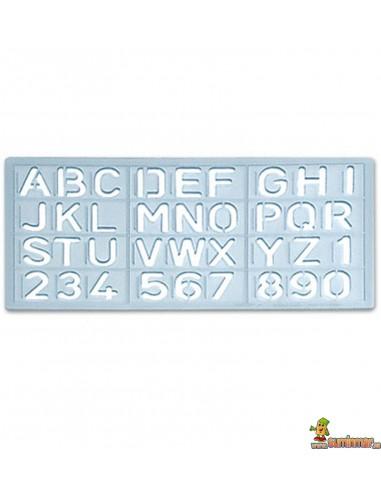 Plantilla de letras y números 1585 15mm