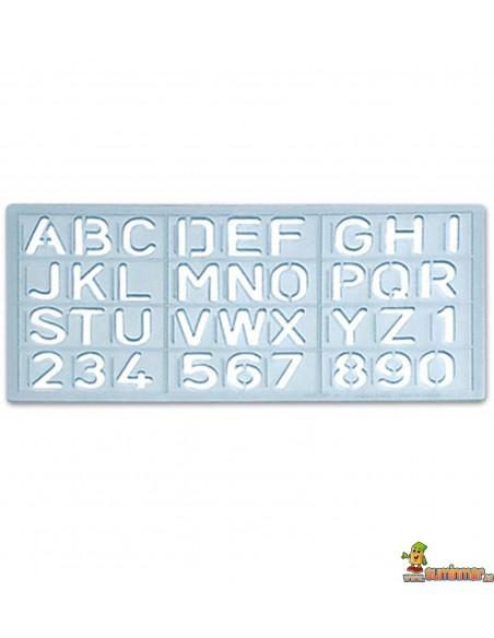 Plantilla de Letras y Números Varios Tamaños