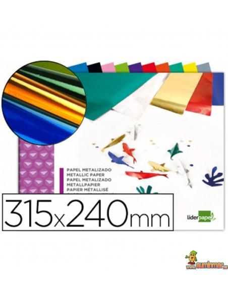 Bloc papel metalizado 90g/m² 315x240mm 10 hojas