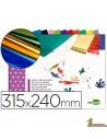 Bloc papel metalizado 90g/m² 315x240mm 10 hojas Liderpapel