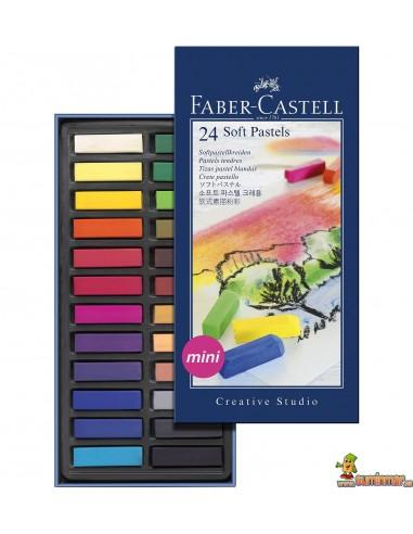 Pasteles blandos Faber Castell Mini 24 colores