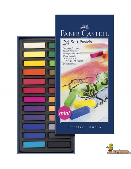 Pasteles blandos Faber-Castell Mini 24 uds