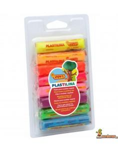 Plastilina en barra Jovi 8 Colores Fluorescentes