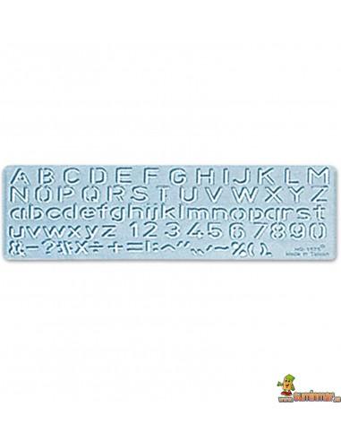 Plantilla de letras y números 1585 10mm
