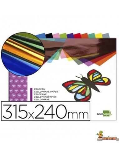 Bloc de papel celofán 10 hojas de colores surtidos