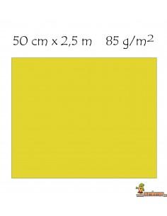 Papel Crespón 85 g/m2 Pliego enrollado 50 x 250 cm Amarillo