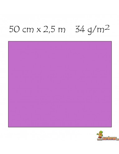 Papel Crespón 34g/m² Pliego de 50cm x 2.5m lila