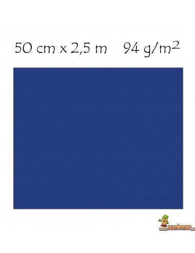 Papel crespón metalizado pliego 50 x 250 cm Azul metálico