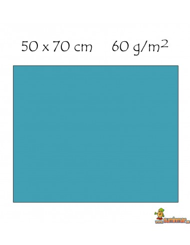 Goma EVA con purpurina 50 x 70 cm Azul claro