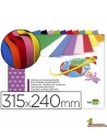 Bloc goma EVA 315x240mm 10 hojas en colores surtidos