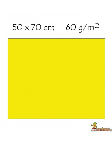 Goma EVA 50x70cm textura de toalla Amarillo
