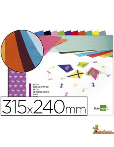 Bloc de papel de seda 10 hojas en colores surtidos