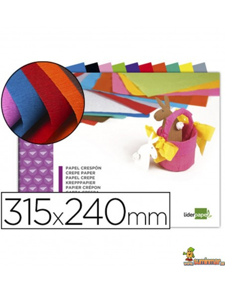 Bloc Papel Crespón 34g/m² 315x240mm 10 hojas