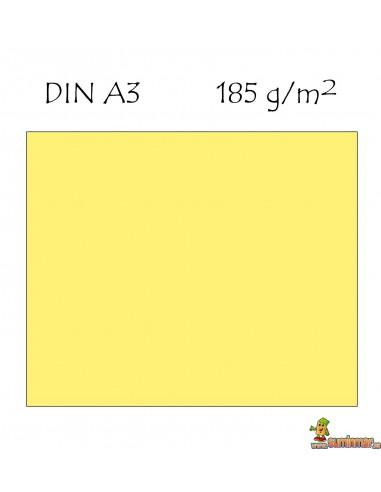 Cartulina Guarro 185g/m² DIN A3 amarillo